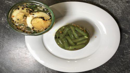 Grüner Bohnensalat mit Gelee